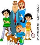 little happy family gathered... | Shutterstock .eps vector #139498220