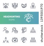 headhunting icon. set of line... | Shutterstock .eps vector #1395001970