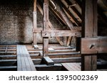 Roof Beams In Old  Empty Attic  ...
