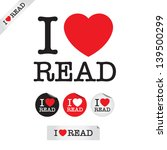 i love read  font type with... | Shutterstock .eps vector #139500299