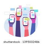 trending topics and global... | Shutterstock .eps vector #1395032486