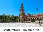 spain square  plaza de espana... | Shutterstock . vector #1395036746