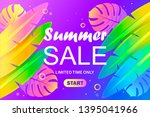 colorful summer banner template.... | Shutterstock .eps vector #1395041966