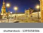 spain square  plaza de espana... | Shutterstock . vector #1395058586
