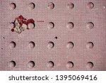 an overhead view of mauve... | Shutterstock . vector #1395069416