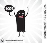 cute little black monster for... | Shutterstock .eps vector #139507226