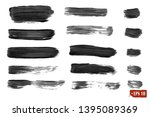 collection of gray watercolor... | Shutterstock .eps vector #1395089369