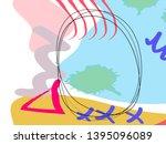 memphis style poster set. fluid ...   Shutterstock .eps vector #1395096089