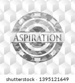 aspiration grey badge with... | Shutterstock .eps vector #1395121649