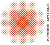 ball made of red tiny circles... | Shutterstock .eps vector #1395140606