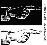 retro vintage pointing hand... | Shutterstock .eps vector #139515860
