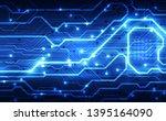 abstract futuristic digital...   Shutterstock .eps vector #1395164090