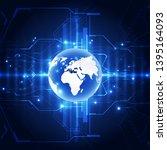 vector blue globe on the...   Shutterstock .eps vector #1395164093