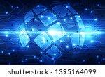 vector blue globe on the...   Shutterstock .eps vector #1395164099