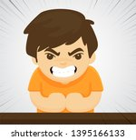 an angry child who shows...   Shutterstock .eps vector #1395166133