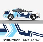 racing car wrap design. graphic ... | Shutterstock .eps vector #1395166769