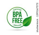 certified bpa bisphenol free...   Shutterstock .eps vector #1395167573