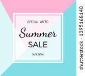 summer sale banner. summer sale ...   Shutterstock .eps vector #1395168140