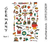germany icons set. sketch for... | Shutterstock .eps vector #1395192839