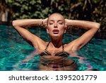 summer close up portrait of...   Shutterstock . vector #1395201779