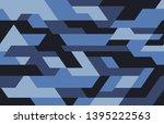 geometric futuristic camouflage ... | Shutterstock .eps vector #1395222563