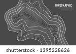 grey contours vector topography.... | Shutterstock .eps vector #1395228626