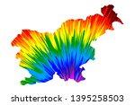 slovenia   map is designed... | Shutterstock .eps vector #1395258503