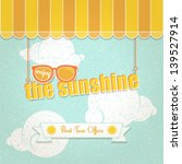 vintage background about summer ... | Shutterstock .eps vector #139527914