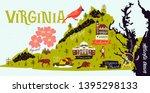 illustrated map of  virginia ... | Shutterstock .eps vector #1395298133
