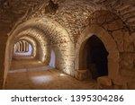 Corridor in interior of Crusader Castle Kerak (Al Karak), Jordan