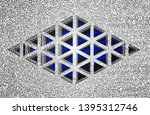 abstract three dimensional... | Shutterstock . vector #1395312746