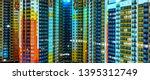 facade of residential... | Shutterstock . vector #1395312749