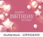 happy birthday congratulations... | Shutterstock .eps vector #1395326243