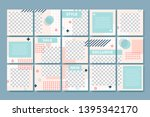 memphis style post template.... | Shutterstock .eps vector #1395342170