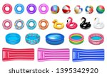 beach water toys. pool... | Shutterstock .eps vector #1395342920