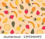 summer theme seamless pattern...   Shutterstock .eps vector #1395346493