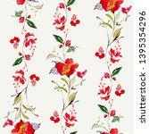 wild flowers watercolour...   Shutterstock . vector #1395354296