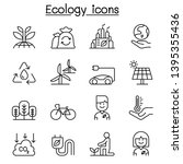 ecology and environmental icon... | Shutterstock .eps vector #1395355436