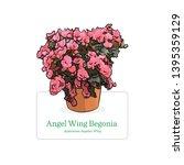 begonia flower vector... | Shutterstock .eps vector #1395359129