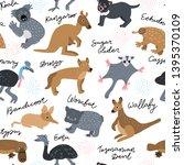 australia hand drawn color... | Shutterstock .eps vector #1395370109