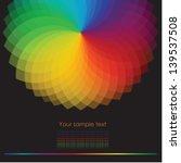 color wheel background. vector
