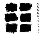 set of different brush strokes. ... | Shutterstock .eps vector #1395383336