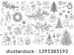 Christmas Pattern In Sketch...