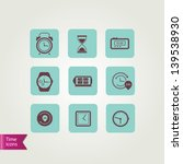 clock icons.vector illustration. | Shutterstock .eps vector #139538930