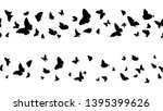 set of butterflies  ink... | Shutterstock .eps vector #1395399626