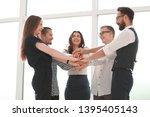 close up. business team putting ... | Shutterstock . vector #1395405143