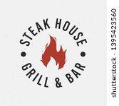 steak house  grill logo.... | Shutterstock .eps vector #1395423560