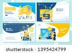 set of landing page design... | Shutterstock .eps vector #1395424799