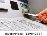 insert card in a atm machine | Shutterstock . vector #139542884
