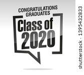 graduating class of 2020... | Shutterstock .eps vector #1395432833